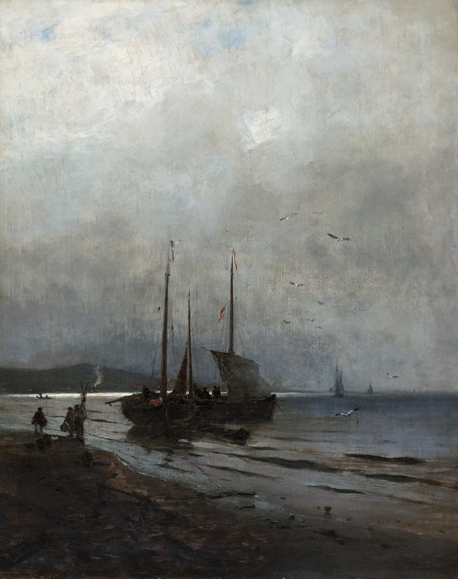 Heinrich Hartung III. (1851 - 1919) » Öl-Gemälde Düsseldorfer Malerschule Meer