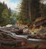 Maler des 19. Jahrhunderts  » Öl-Gemälde Dresdner Romantik Landschaft