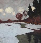 Carl Küstner (1861 - 1934) » Öl-Gemälde Winter Landschaft