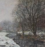 Otto Schulz-Stradtmann (1892-1960) » Öl-Gemälde Impressionismus Winter Landschaft