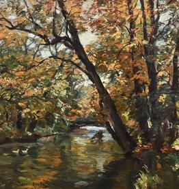 Otto Schulz-Stradtmann (1892-1960) » Öl-Gemälde Impressionismus Park Landschaft