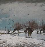 Andreas Egersdoerfer (1866 - 1946) » Öl-Gemälde Impressionismus Winter Landschaft