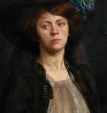 Monogrammist um 1900 » Öl-Gemälde Portrait Impressionismus