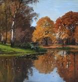 Konrad Alexander Müller-Kurzwelly (1855 - 1914) » Öl-Gemälde Impressionismus Park Schloss Sanssouci Landschaft