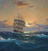 Martin Franz Glüsing (1885 - 1956) » Öl-Gemälde Meer norddeutsche Marinemalerei