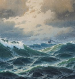 Max Jensen (1860 - nach 1908 ) » Öl-Gemälde Meer Marinemalerei