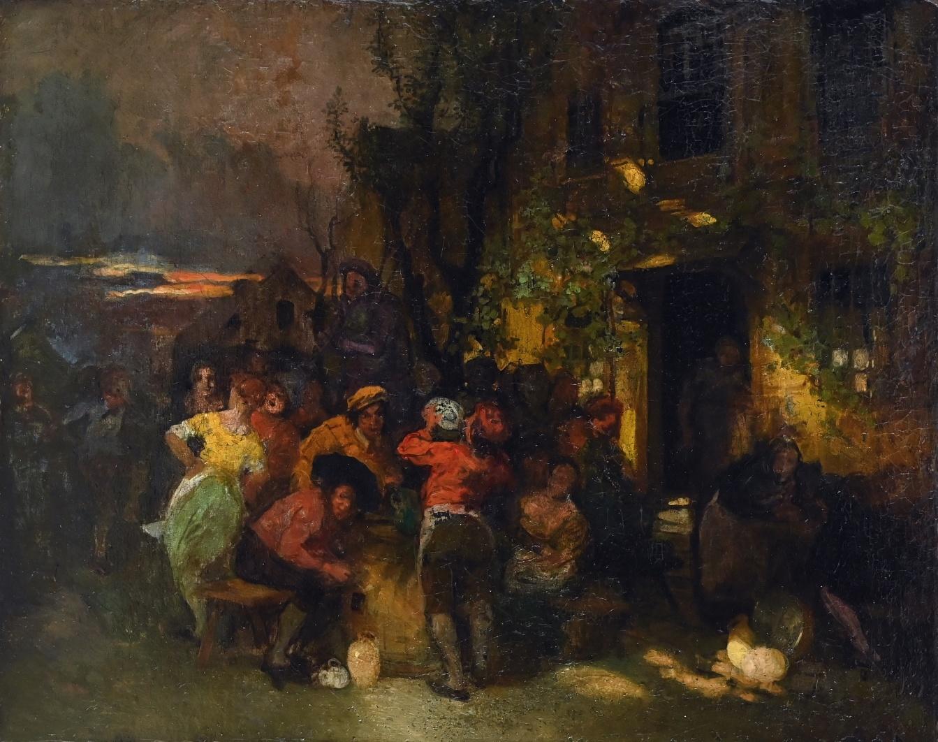 Carl Duxa (1871 - 1937) » Öl-Gemälde Genremalerei