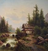 Anton Pick (1840 - nach 1902) » Öl-Gemälde Spätromantik Landschaft