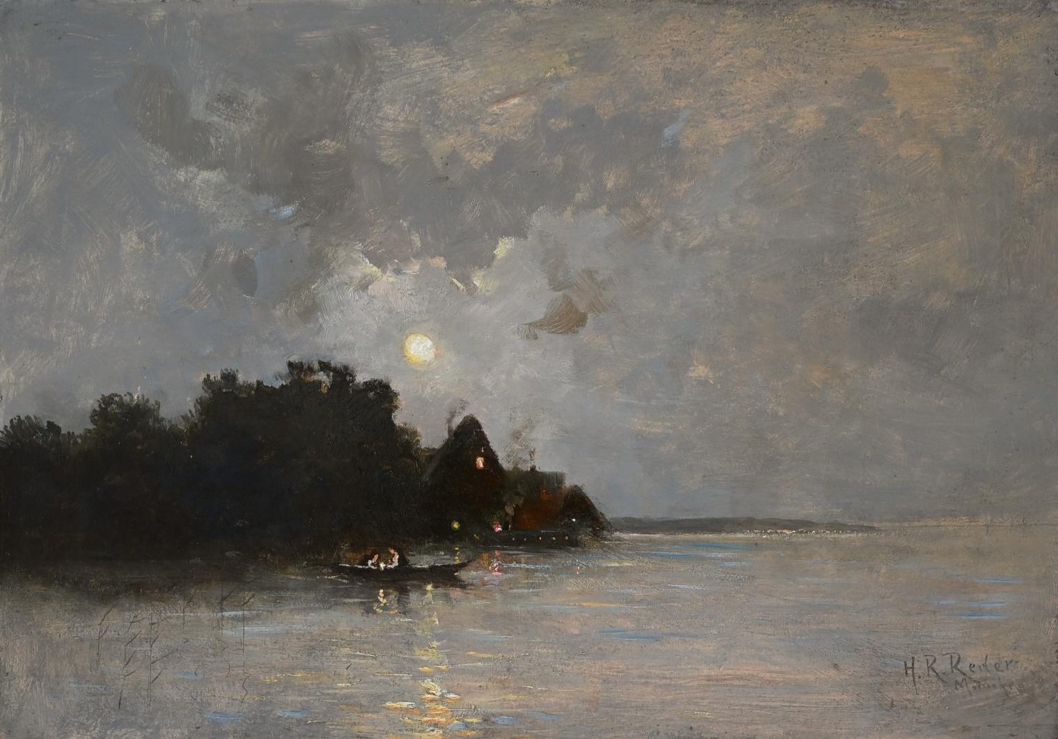 Heinrich R. Reder (1862 - 1942) » Öl-Gemälde Landschaft Spätromantik Münchner Malerschule