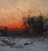 Arthur Tiele (1841 - 1919) » Öl-Gemälde Impressionismus Wald Landschaft