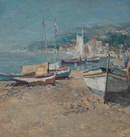 Wilhelm Thelen (1917 - 1985) » Öl-Gemälde Impressionismus Landschaft Meer Italien