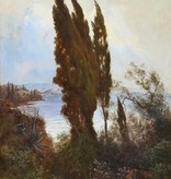 A. Terni (Maler des 19. Jahrhunderts) » Öl-Gemälde Italien Meer italienische Küstenlandschaft