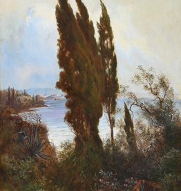 A. Terni (Maler des 19. Jahrhunderts) » Öl-Gemälde Italien Meer Landschaft