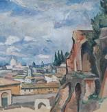 1920 » Öl-Gemälde Postimpressionismus Landschaft Italien Rom