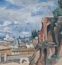 Künstler um 1920 » Öl-Gemälde Postimpressionismus Landschaft Italien Rom