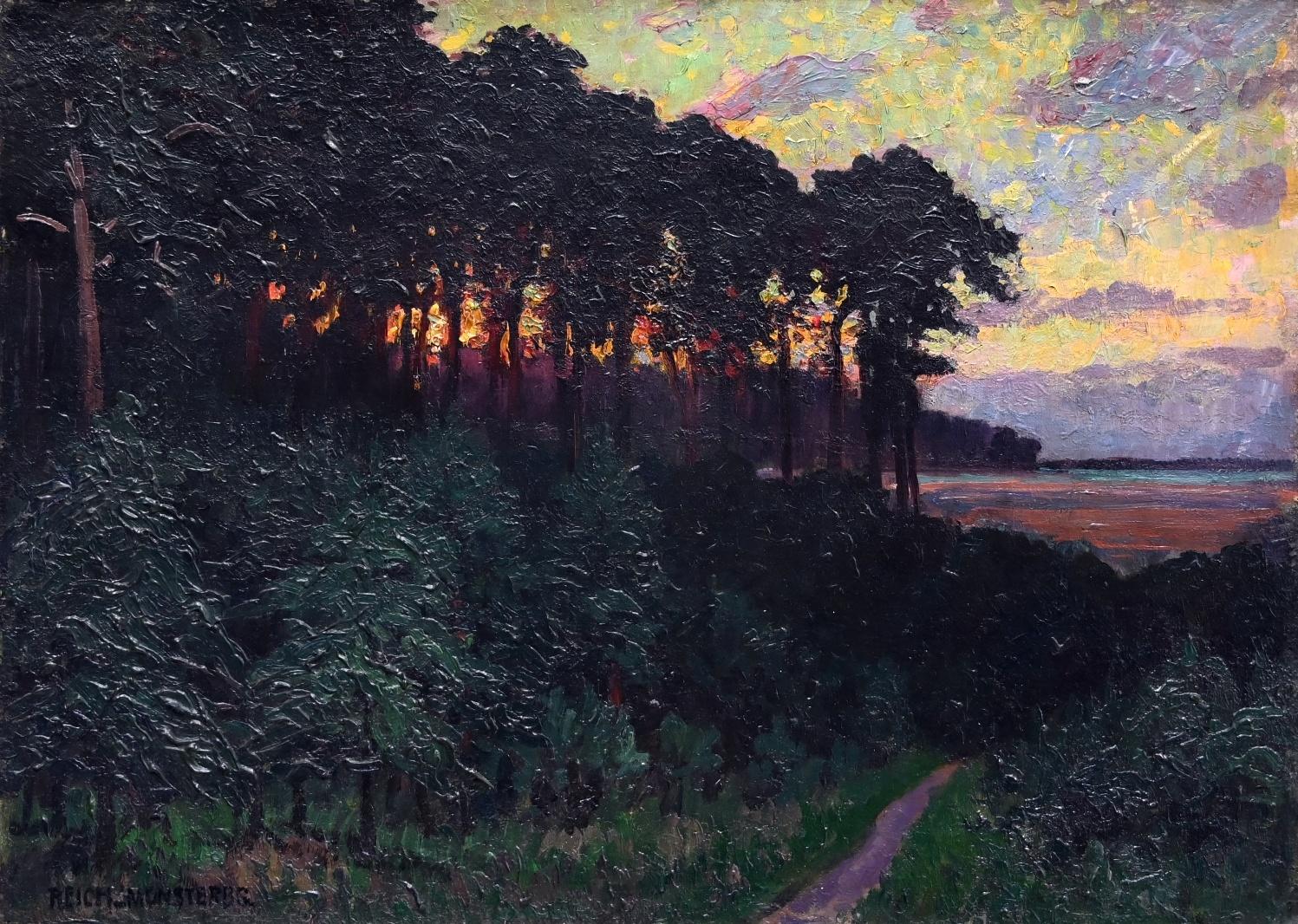Eugen Reich-Münsterberg (1866 - 1943) » Öl-Gemälde Impressionismus Landschaft