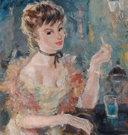 Künstler um 1940 » Öl-Gemälde Spät-Impressionismus Nachtleben