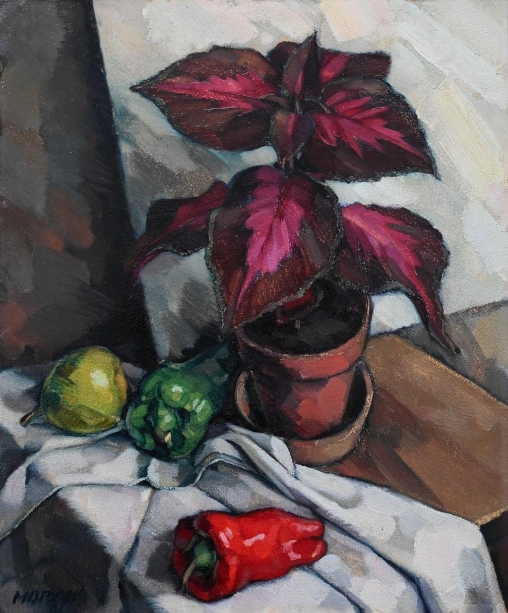 Wilhelm Morano (*1885) » Öl-Gemälde Stillleben Neue Sachlichkeit