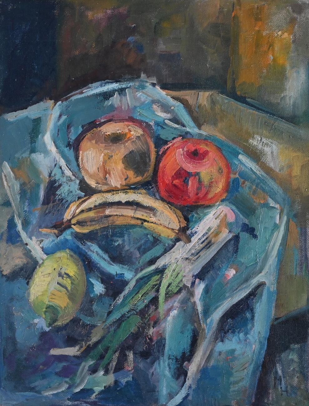 Manfred Henninger (1894 - 1986) zugeschrieben » Öl-Gemälde Expressionismus Stillleben