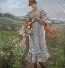 Maler des 19. Jahrhunderts  » Öl-Gemälde Impressionismus Landschaft Münchner Malerschule