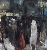 Hans Schroers (1903 - 1967) » Öl-Gemälde Expressionismus Klassische Moderne Nachtleben