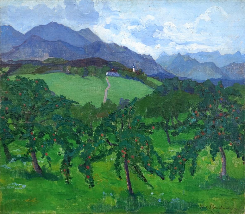 Paula Geiger von Blanckenburg (1875 - 1956) » Öl-Gemälde Postimpressionismus Jugendstil Süddeutsche Malerei