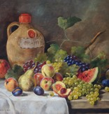 Alois Zabehlicky (1883 - 1962) » Öl-Gemälde Stillleben Früchte Obst