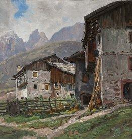 Georg Hacker (1863 - 1945) » Öl-Gemälde Impressionismus Alpen Landschaft