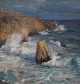 Gustav Schönleber (1851 - 1917) zugeschr.  » Öl-Gemälde Impressionismus Meer Landschaft