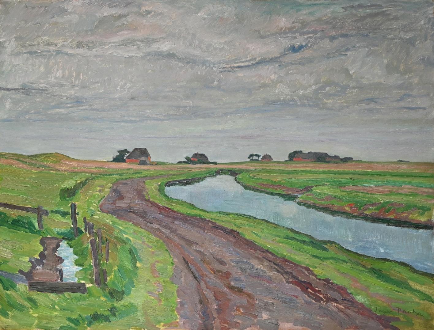 Ingwer Paulsen (1883 - 1943) » Öl-Gemälde Postimpressionismus norddeutsche Malerei