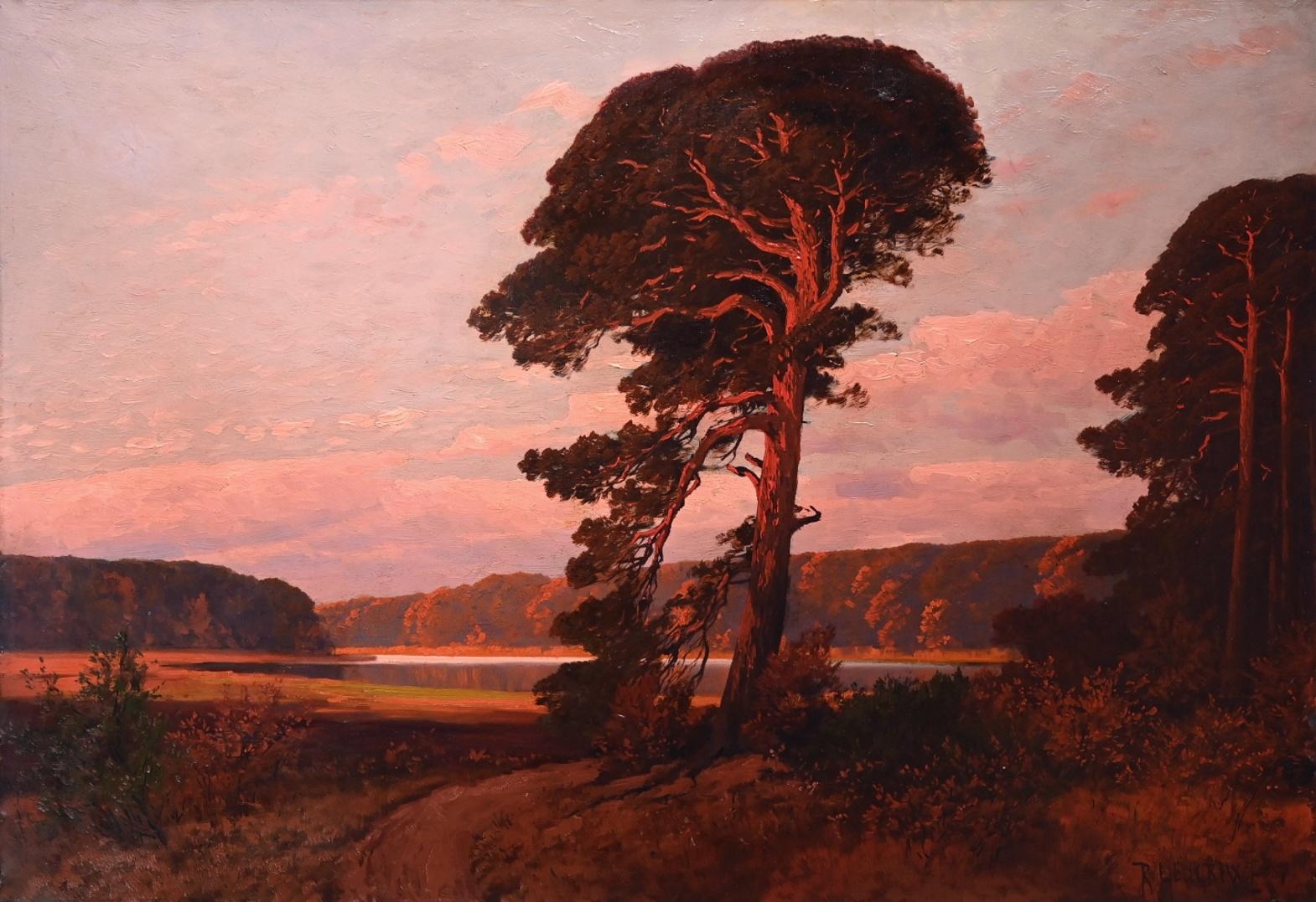 Rudolf Hellgrewe (1860 - 1935) » Öl-Gemälde Impressionismus Landschaft Berliner Waldsee