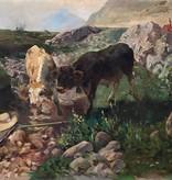 Hermann Baisch (1846 - 1894) zugeschr. » Öl-Gemälde Tiermalerei Impressionismus
