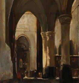 Johannes Bosboom (1817 - 1891) Umkreis » Öl-Gemälde Kircheninterieur Haager Schule
