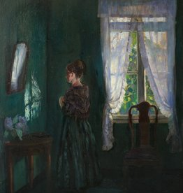 Johann Georg Dreydorff (1873 - 1935) » Öl-Gemälde Impressionismus Interieur Düsseldorfer Malerschule
