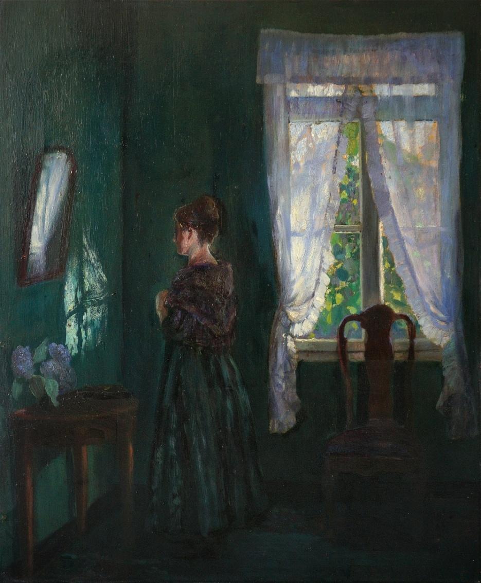 Johann Georg Dreydorff (1873 - 1935) » Öl-Gemälde Impressionismus Interieuer Düsseldorfer Malerschule