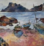 Maler des 20. Jahrhunderts » Öl-Gemälde Postimpressionismus Expressionismus Moderne italienische Küstenlandschaft