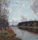 Peter Paul Müller (1853 - 1930) » Öl-Gemälde Impressionismus Landschaft Münchner Malerschule