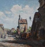 Louis Wöhner (1888 - 1958) » Öl-Gemälde Impressionismus fränkische Stadt