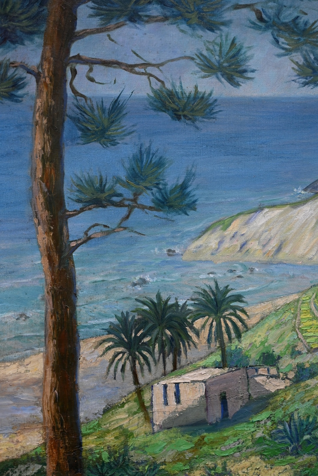 Maler des 20. Jahrhunderts » Öl-Gemälde Postimpressionismus italienische Küstenlandschaft