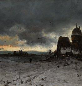 Josef Heydendahl (1844 - 1906) » Öl-Gemälde Spätromantik Düsseldorfer Malerschule Winter Landschaft