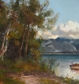 Horst Hacker (1842 - 1906) » Öl-Gemälde Münchner Malerschule Chiemsee Landschaft
