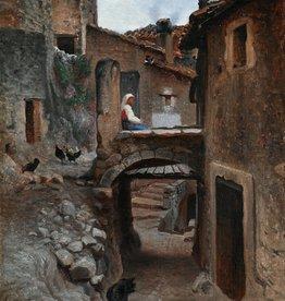 Edouard Imer (1820 - 1881) » Öl-Gemälde Realismus Italien Stadt