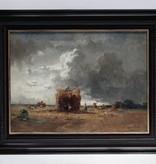 Fritz Halberg-Krauss (1874 - 1951) » Öl-Gemälde Münchner Schule Ernte Landschaft