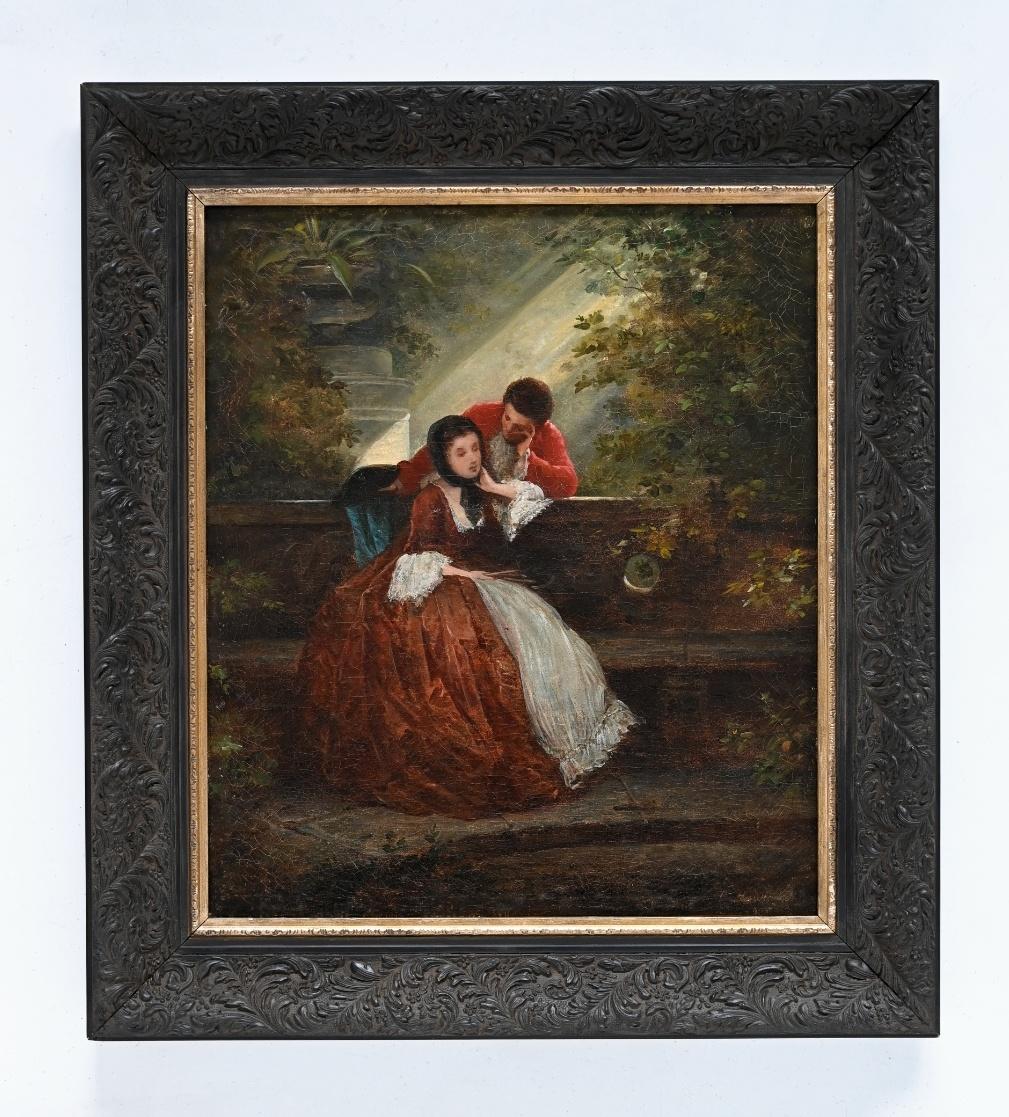 Richard Heidland (1830 - 1898) » Öl-Gemälde Historismus galante Szene