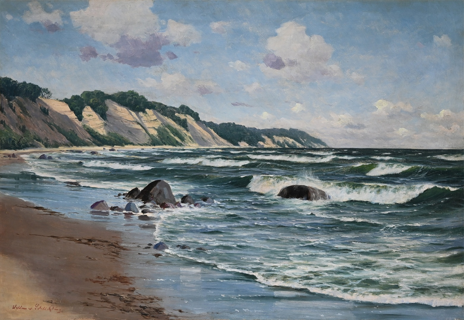 Waldemar Schlichting (1896 - 1970) » Öl-Gemälde Berliner Maler norddeutsche Malerei Meer Küstenlandschaft