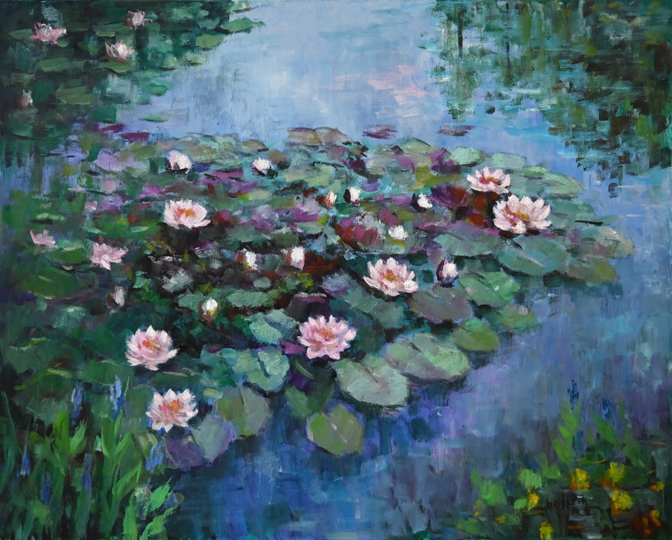 Maler des 20. Jahrhundert » Öl-Gemälde Impressionismus Seerosen