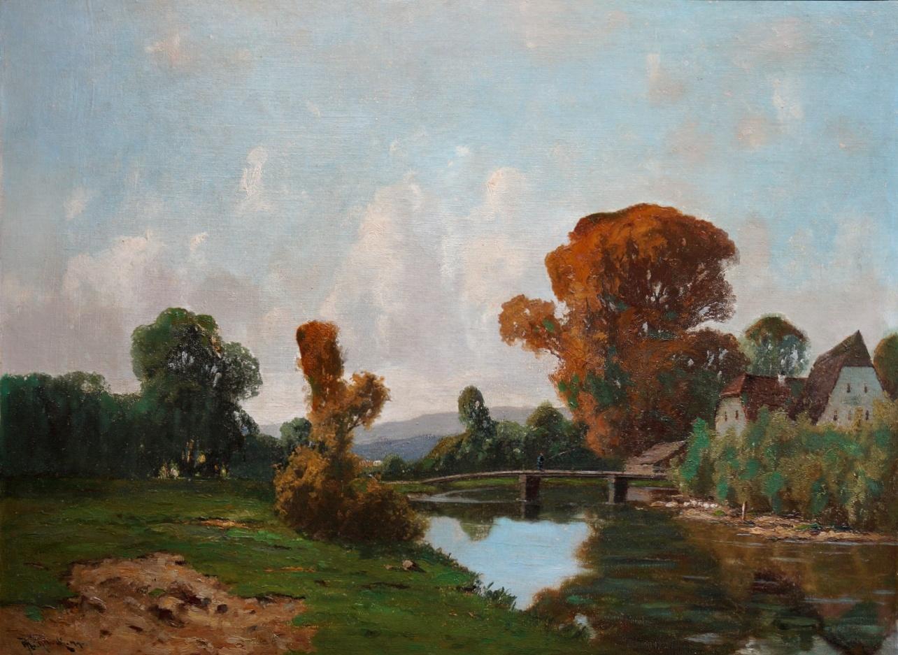 Josef Mühlbeck (1878 - 1948) » Öl-Gemälde Münchner Malerschule Dachauer Künstlerkolonie süddeutsche Malerei