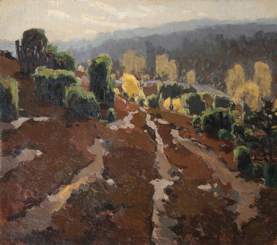 Hertha Georgi von Sternburg (1883 - 1945) » Öl-Gemälde Landschaft Klassische Moderne