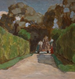 Paul Rein (1885 - 1946) » Öl-Gemälde Jugendstil Impressionismus Schloss Park Barock Gartenarchitektur Landschaft