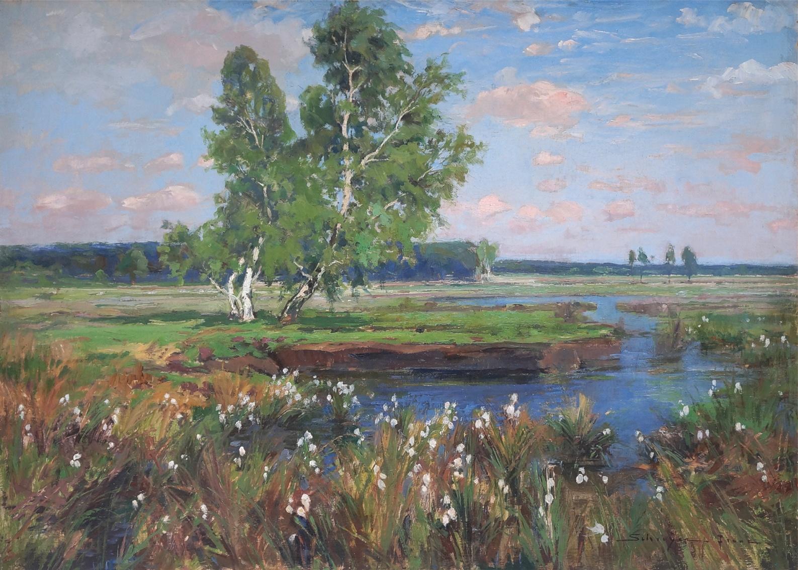 Franz Schreyer (1858 - 1938) » Öl-Gemälde Impressionismus Naturalismus Landschaft